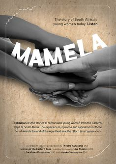 About #theatre #africa #print #design #flyer #south #mamela #leaflet