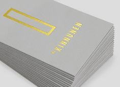 Lotta Nieminen — SI Special #typography #business card #gold