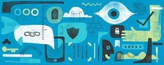 Website homepage illustrations for Oncloud by Mike McQuade #illustration