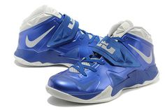 Nike Zoom Soldier VII 7 Lebron James Basketball Shoes Blue and Grey #fashion
