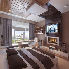 Minimalist design of artistic bedroom