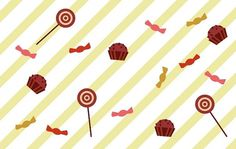 Ana - Ana #illustration #lollipop #cupcake #sweet