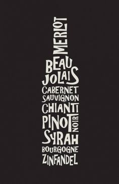 Astrid Campos #wine #print #poster #typography