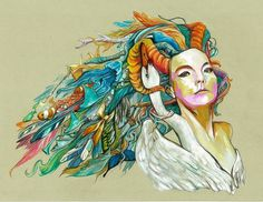 unravel - at least eight #illustration #bjork #colour #brian cheung