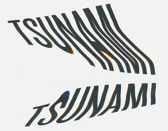 The portfolio of Jon Arne Berg #tsunami #wave #typography
