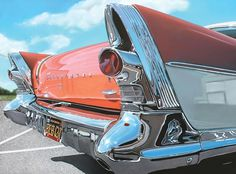 Realistic Old Polished Cars Paintings -2 #painting #car #art #realistic