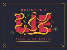 Design is a lie #illustration #design #typography