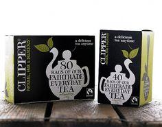 Clipper Teas redesigned by Big Fish – POPSOP.COM. Brand news. Brand design. Package design. Branding agencies. Brand experts #beverage #packaging #drink #box #tea