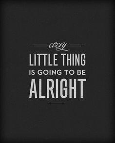 three little black birds #white #alright #black #thing #little #typography