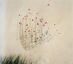 http://www.collectionsocietegenerale.com/data/collection_96000/fiche/5078/xlarge_udo_nils_roseaux_brins_dherbe_petales_deglantines_rosa_rugo #peinture #art #flowers