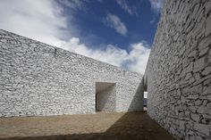 standardarchitecture: niyang river visitor center #white #stone #texture #architecture #facades