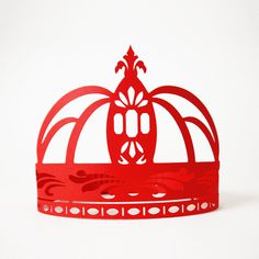 Paper Crowns #red #princess #design #queen #gift #royal #sculptures #lasercut #handmade #art #birthday #blue #paper #king #party