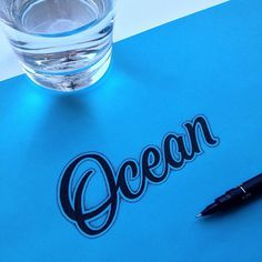 Ocean #handlettering #lettering #typography