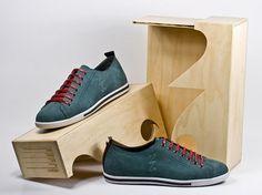 Lovely Package® . Curating the very best packaging design. #packaging #wood #sneakers