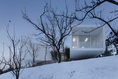 Viewing Pavilion on Hill by TAO #minimalist #architecture #house