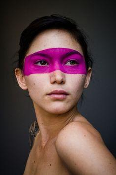 TREVOR CHRISTENSEN #girl #model #portrait #face paint #julia fae