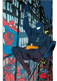 Spider Man Comic Style Geek Art By Nathan Fox
