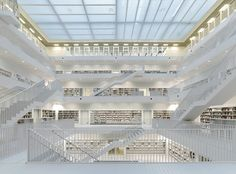 yi architects: new stuttgart library #stuttgart #library #new