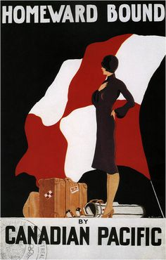 Homeward Bound by de Forest for Canadian Pacific #travel #advertising #illustration #vintage #poster #canadian