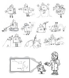 Science Series Character Design on Behance #sketch #robots