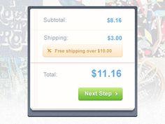 Cart widget #total #cart #nice #looking #widget
