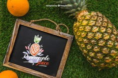 Slate and pineapple on grass Free Psd. See more inspiration related to Mockup, Summer, Template, Blackboard, Grass, Fruits, Tropical, Holiday, Chalkboard, Mock up, Decoration, Healthy, Pineapple, Decorative, Vacation, Templates, Aloha, Up, Season, Hawaiian, Slate, Composition, Mock, Exotic, Summertime and Seasonal on Freepik.