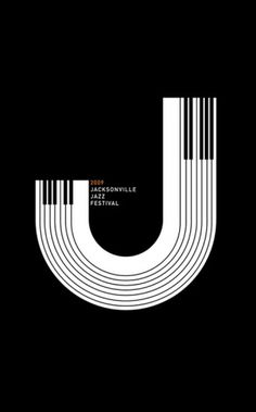 Amazing Design & Illustration by Matt Chase | Abduzeedo | Graphic Design Inspiration and Photoshop Tutorials #j #jazz #typographic #letter #illustration #poster