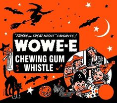 WOWE-E #halloween #packaging #classic #gum #whistle