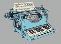 zoom.gif (GIF Image, 640 × 464 pixels) #music #keys #typewriter #keyboard