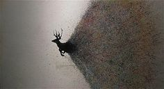 Jared Erickson | Because I Can #deer #ink #white #black #silhouette #and #animal