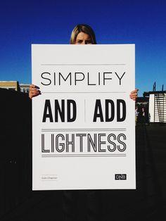 simplify lightness #simplify #lightness