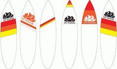 Sundek Surfboard Graphix : Adrineh Asadurian #sundek #design #graphic #surfboards