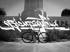 Bicigraphia | JLDesignloft #calligraphy #los #bicycle #city #design #photography #bike #angeles #typography