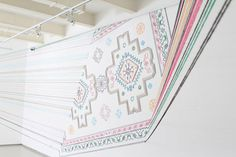 faig ahmed\'s thread installation embroiders space
