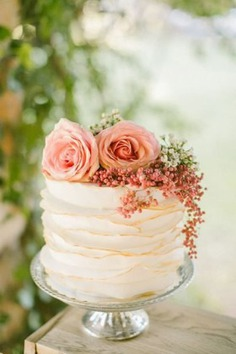Here Are The Top 8 Wedding Cake Trends Of 2016 - floral cakes
