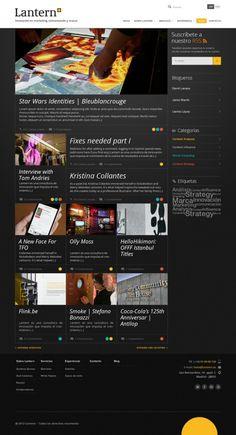 Lantern #site #design #digital #blog #web