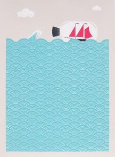 Made By Morris #printed #silkscreen #bottle #print #at #sea #boat #hand