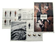 HYES studio #typography #newspaper #editorial design #lookbook