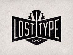 Dribbble - Lost Type Logo by Riley Cran #black #logo #type #lost #typography