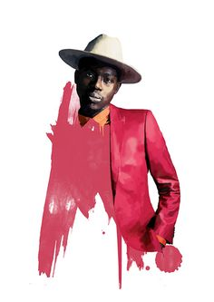 Theophilus London Illustration on Behance #london #music #illustration #painting #york #hop #rap #hip #brooklyn #new