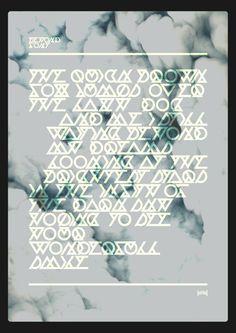 Beyond Font - Hadrien Degay Delpeuch #font #vector #experimental #minimal #typo #unreadable