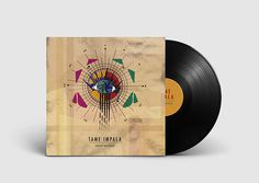 Vinyl cover design on Behance #rock #impala #design #graphic #vinyl #tame