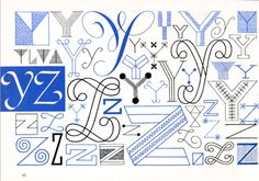 Y, Z, Embroidery Letterforms, Present and Correct