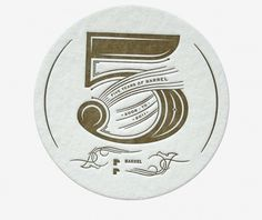 Barrel 5 Year - Andrea Horne #typography #logo #lettering #coaster #barrel