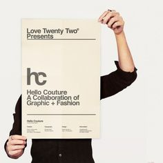 WANKEN - The Blog of Shelby White » Hello Couture #fashion #hello #poster #couture #layout #typography