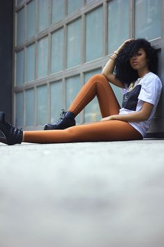 aagdolla:Tiffany(tee shirt by Live Astro)Taken by aagdolla #fashion #photography #woman