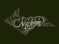 Michigin Calligraphy Mark - Outtake juniper upper peninsula art direction long road distillers michigan packaging gin michigin design calligraphy hand drawn typography ___ Josh Kulchar