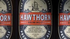 Hawthorn Brewing Co. #beer #wittier #branding #pale #packaging #drink #co #label #food #boutique #brewing #company #amber #logo #ale #pilsner #hawthorn