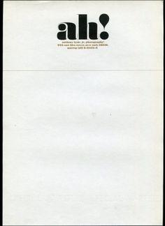 AMASSBLOG #typography #letterhead #herb #lubalin