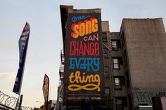 One Song Can Change Everything #handdrawn #typography
